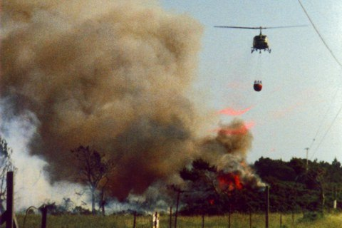 Caroline Schooley's photo of the 1987 Gorse Fire