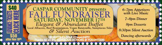 Fall Fundraiser 2018 --  click to reserve