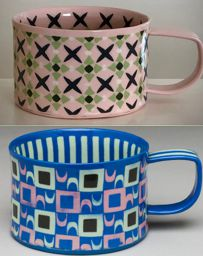 2 mugs by Heidi Tarver