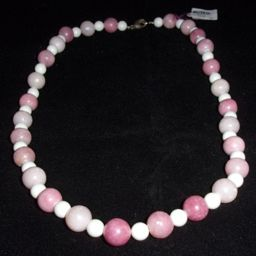 Rhoda Teplow: Pink Opal Necklace