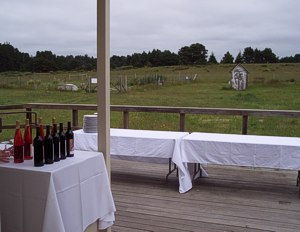 Back Deck Wine Bar. Have your Wedding on the Mendocino Coast at the Caspar Community Center. Photo by Dalen Anderson.